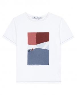 Camiseta Niño TARTINE ET CHOCOLAT Blanca Naútica