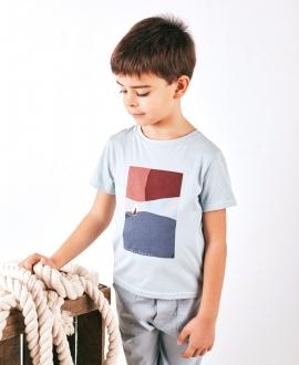 Camiseta Niño TARTINE ET CHOCOLAT Azul Naútica