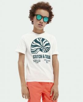 Camiseta Niño SCOTCH & SODA Blanca Caracola