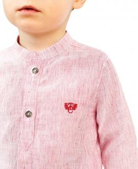 Camisa Bebé Niño TARTINE ET CHOCOLAT Terracota Cuello Mao