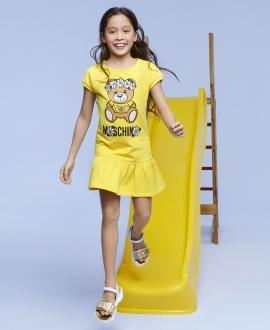 Vestido Niña MOSCHINO Amarillo Oso