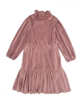 Vestido Niña TOCOTO VINTAGE Terciopelo Rosa