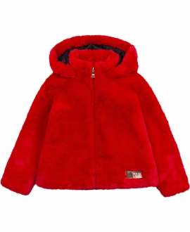 Abrigo Niña KARL LAGERFELD Rojo Pelo
