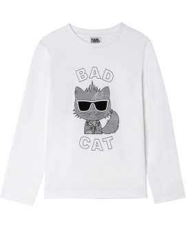 Camiseta KARL LAGERFELD Blanca Bad Cat