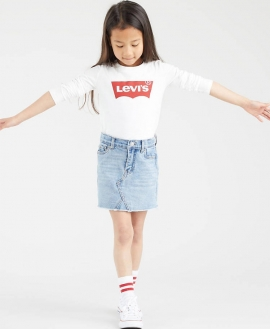 Camiseta LEVI'S Blanca Logo Batwing (de 4 a 8 años)
