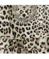 Vestido Roberto Cavalli Algodón Estampado Leopardo