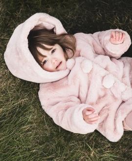 Abrigo Bebé Niña TARTINE ET CHOCOLAT Rosa Pelo