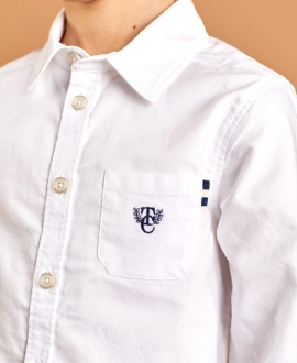 Camisa Niño TARTINE ET CHOCOLAT Óxford Blanca