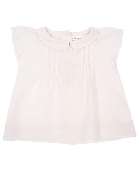 Blusa Bonnet à Pompon Bebé Niña Rosa Claro