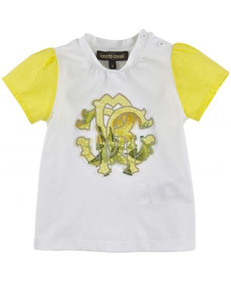 Camiseta Roberto Cavalli Bebé Niña Mangas Amarillo