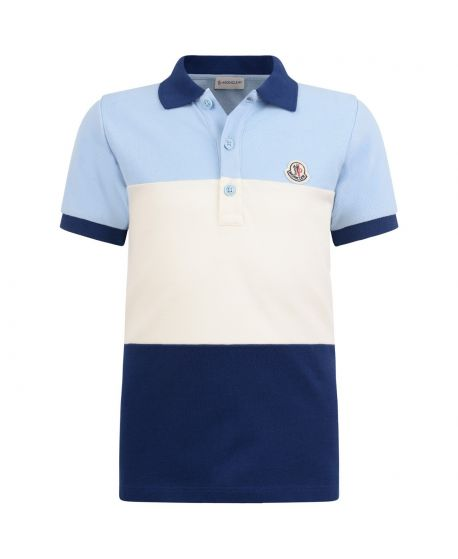 Polo Moncler Junior Niño Azul