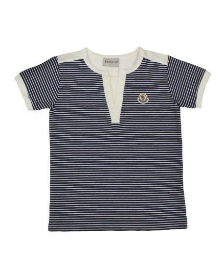 Camiseta Moncler Niño Rayas Azules