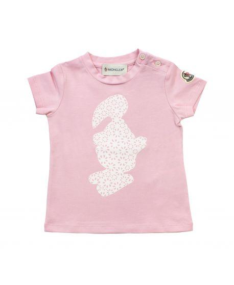 Camiseta Moncler Bebé Niña Rosa