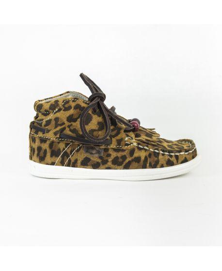 Zapatilla Dolfie Landom Hi 04 Leopard Suede