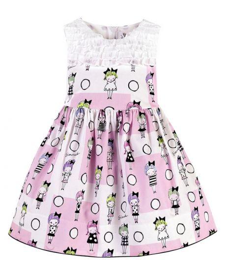 Vestido Simonetta Niña Estampado Dibujos