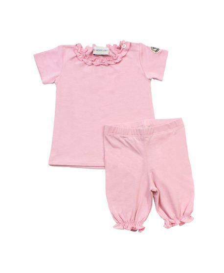 Conjunto Dos Piezas Rosa Moncler Bebé Niña