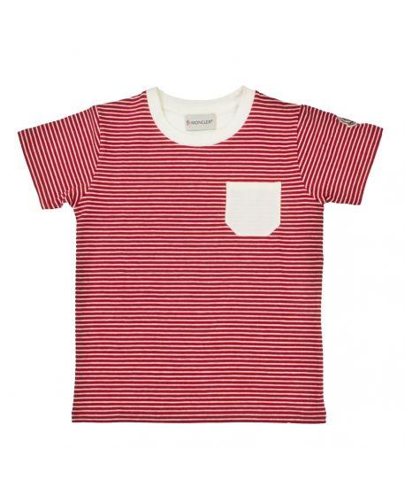 Camiseta Moncler Niño Rayas Rojas