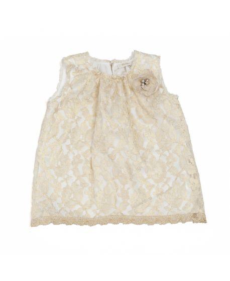 Vestido Microbe Bebé/ Niña Detalles Oro