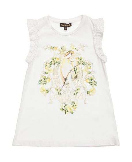 Camiseta Roberto Cavalli Niña Pájaros