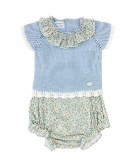 Conjunto Dos Piezas Carmen Taberner Bebé Flores Azul