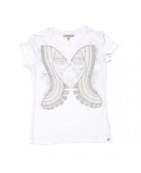 Camiseta Miss Grant Niña Blanca Corazón