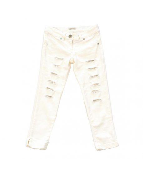 Pantalón Miss Grant Niña Rotos Crudo