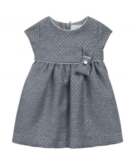 Vestido Bebe Niña Tartine et Chocolat Gris Lazo Cintura