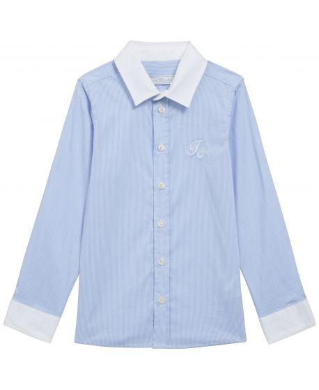 Camisa Niño Tartine et Chocolat Azul Rayas TC
