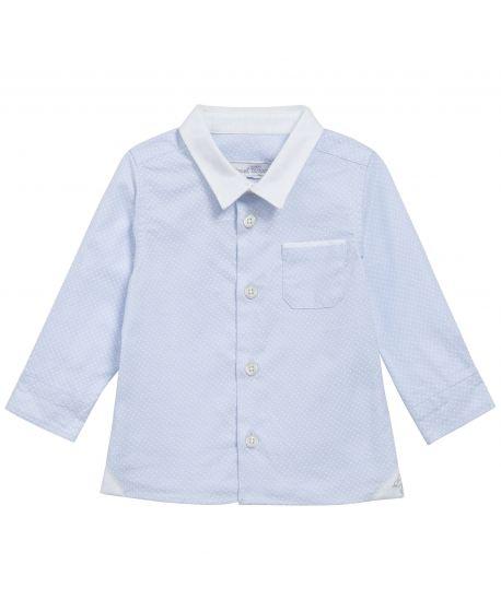Camisa Bebe Niño Tartine et Chocolat Azul Lunares Bolsillo