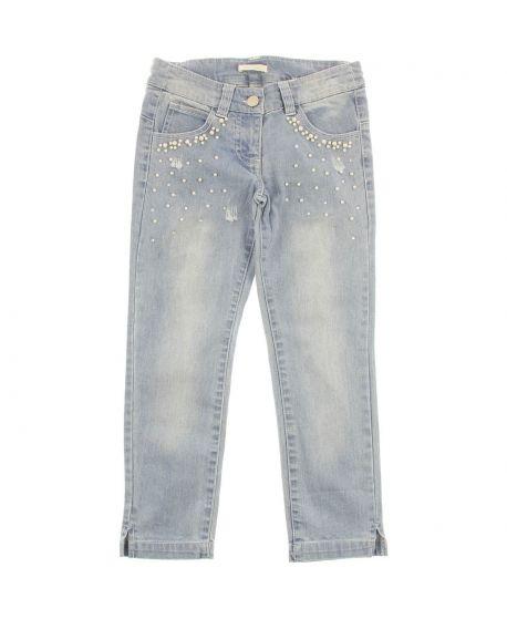 Pantalon Vaquero Niña Miss Grant Claro