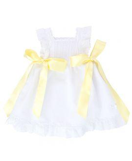 Mini Vestido Piqué Ro Infantil Lazos Colores