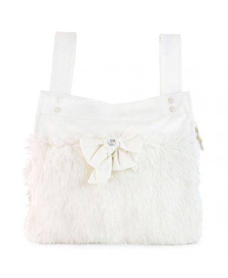 Bolso Bebe Morrosquina Blanco Polar Para Silla