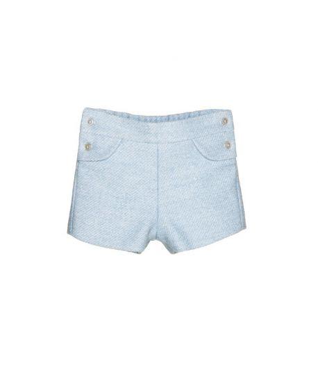 Pantalon Corto Bebe Niño Nanos Azul