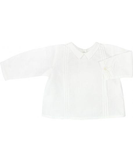 Blusa Bebe Bonnet a Pompon Blanca Cuello Bebe
