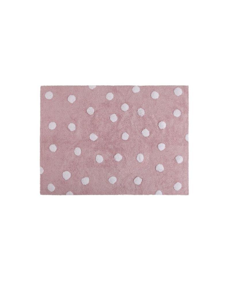 Alfombra lavable topos rosa lorena canals ro infantil - Alfombras lavables lorena canals ...