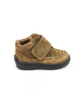 Zapatos Niño Eli Piel Velour Avellana
