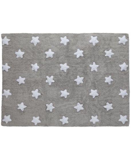 Alfombra lavable Estrellas Gris Lorena Canals