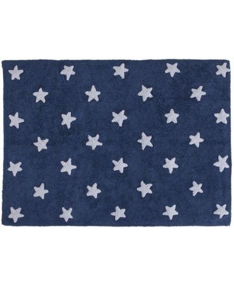 Alfombra lavable Estrellas Azul Lorena Canals