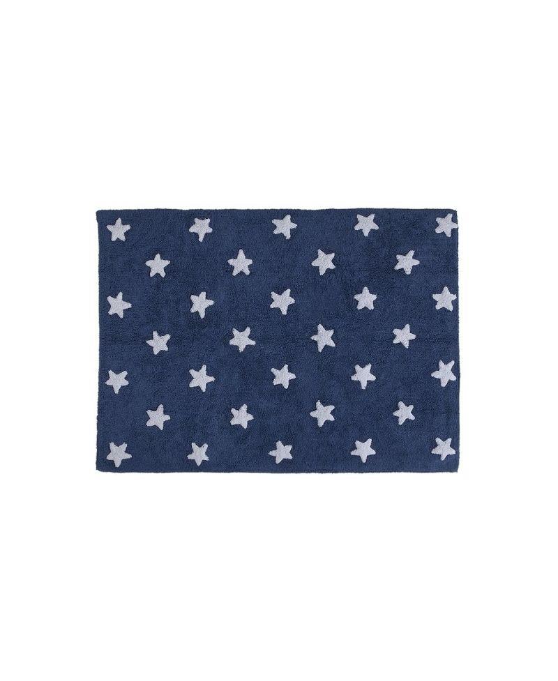 Alfombra lavable estrellas azul lorena canals ro infantil - Alfombra estrellas ikea ...
