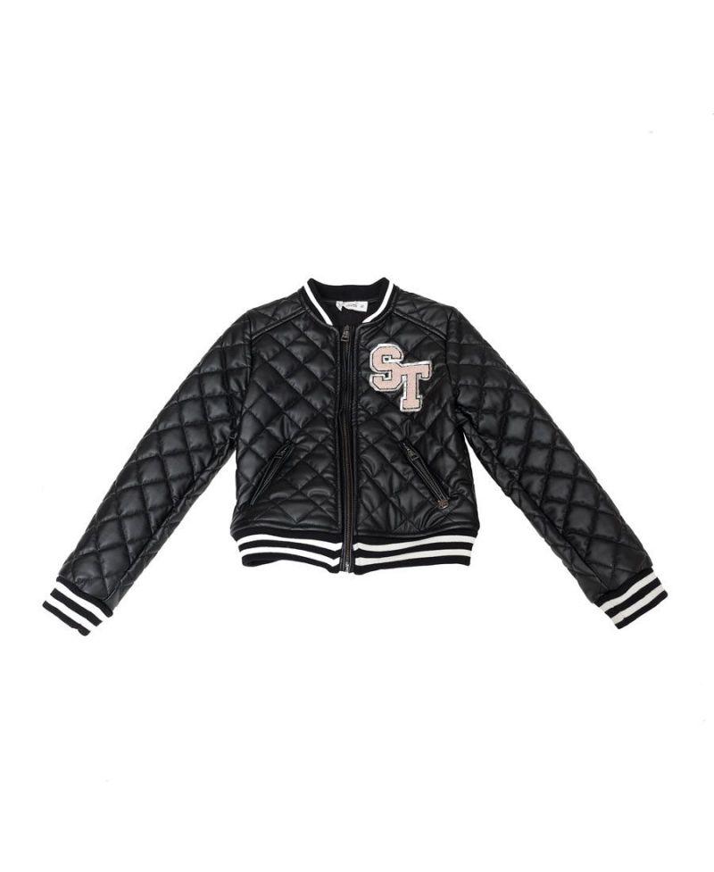 mas fiable Boutique en ligne moda de lujo Cazadora Niña So Twee Negra Acolchada (7-14A) - Ro Infantil