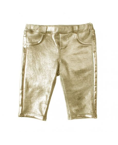 Pantalon Niña Microbe Dorado