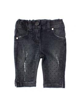 Pantalon Vaquero Niña Microbe Negro