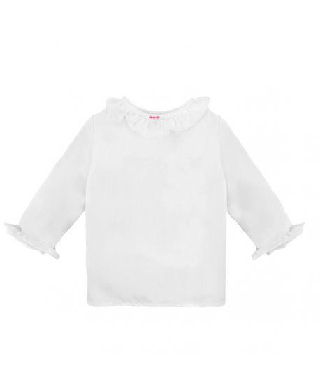 Camisa Batista Bebe Ro Infantil Detalles Rosa