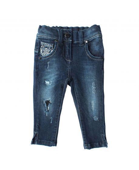 Pantalon Vaquero Microbe Niña Roto
