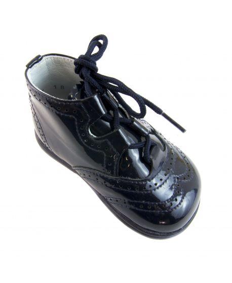 Zapato de Charol Niño Azul Eli