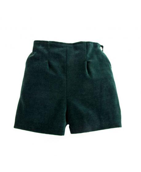 Pantalon Corto Bebe Niño Ro Infantil Velveton Verde