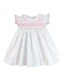 Vestido Bebe Niña Ro infantil Brillantina Rosa