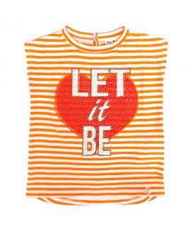 Camiseta Bebe Niña So Twee Microbe Naranja Rayas (2-7A)