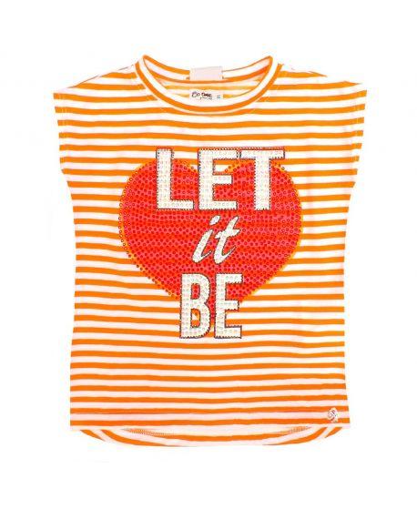 Camiseta Niña So Twee Naranja Rayas (7-14A)