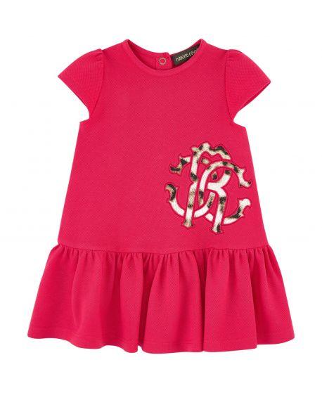 Vestido Bebe Niña Roberto Cavalli Rojo Logo